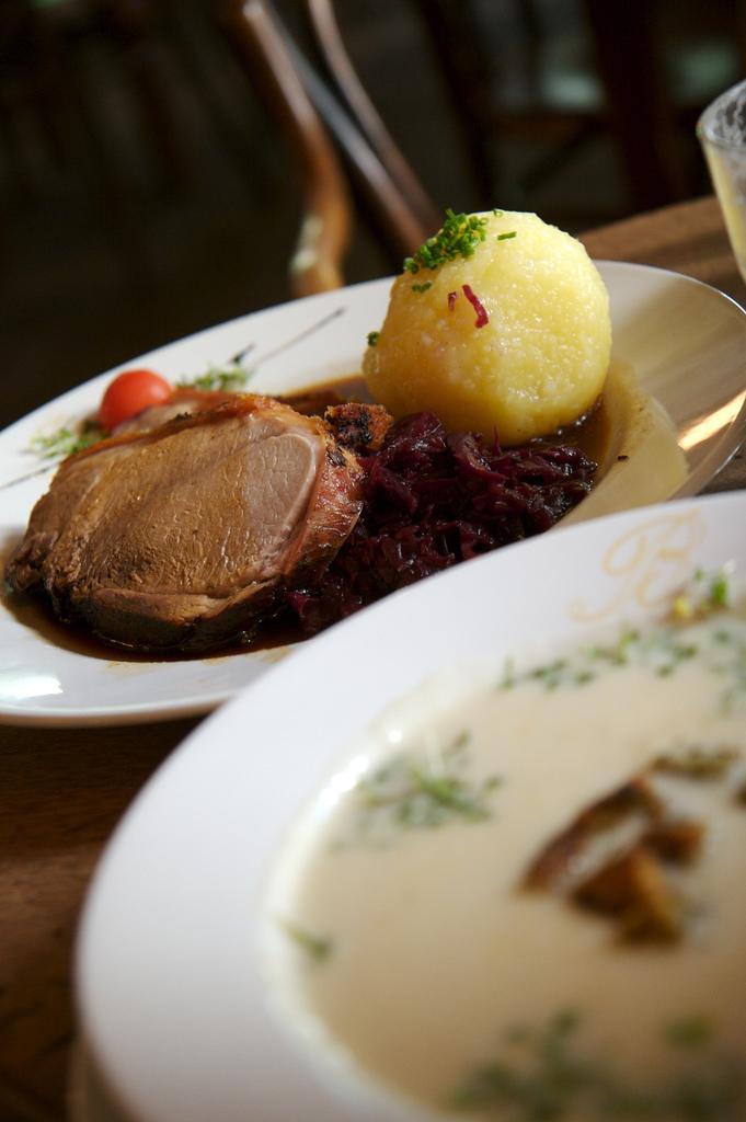 Schweinebraten at Cafe am Beethovenplatz