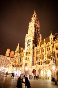 Marienplatz in Munich by night