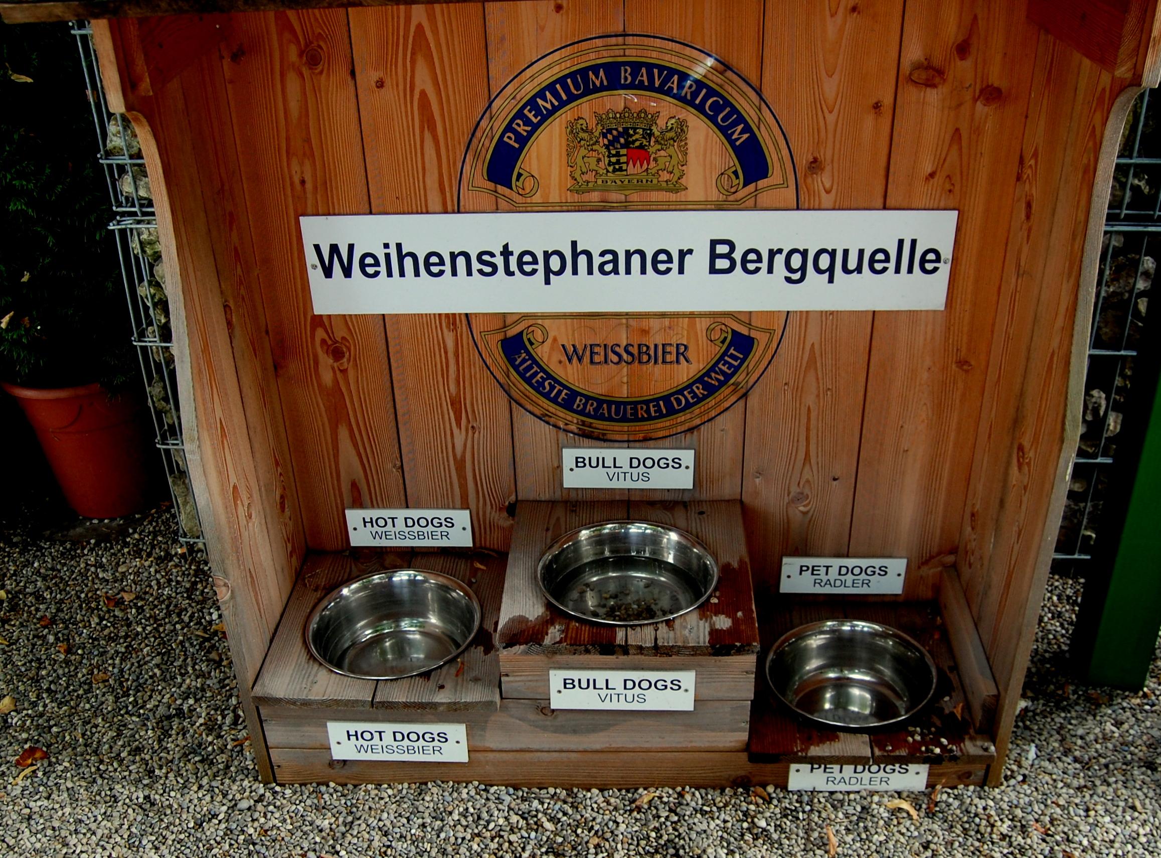 Weihenstephan beer garden