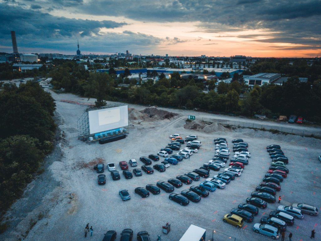 A pop-up drive-in cinema on the Zenith car park, Munich